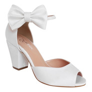 Sandalia Branca Casamento Noiva Dama De Honra Debutante