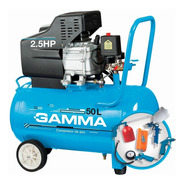 Compresor De Aire Portátil Gamma G2851kar 50lt 2,5hp Con Kit