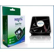 Ventilador Nisuta 80x80x25 Mm 12v, 3 Pin
