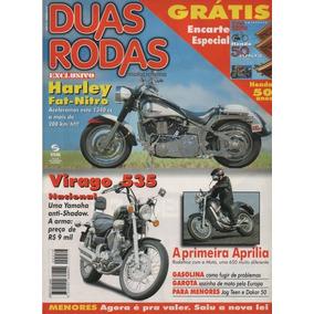 Duas Rodas N°279 Harley Fat-nitro Virago 535 Aprilia Motó