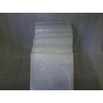 Capa Plastica Para Dvd Kit Com 6 Leva 1 Gratis Novo