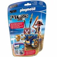 Playmobil Pirata Con Cañon Azul Intek