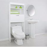Mueble Para Baño Sobre Inodoro Con Estantes Y Puertas