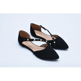 c0432cc140 Sapatilha Bico Fino De Perolas Feminino Sapatilhas - Sapatos no ...