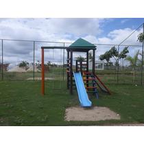 Parque Infantil De Madeira Colorido Mod 301