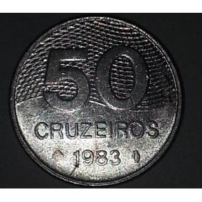 Moeda Brasileira Antiga - 50 Cruzeiros 1983
