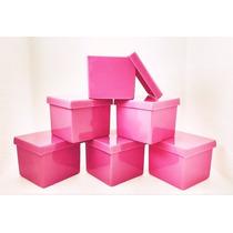 120 Caixinha Acrílica 5x5 Rosa Escuro - Festinha Infantil