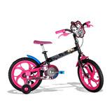 Bicicleta Caloi Monster High Aro 16 Preta