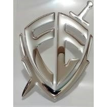 Adesivo Escudo Da Fé Resinado Carro Moto Vidro Alto-relevo