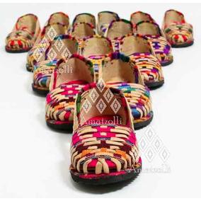Lote 25 Sandalia Huarache Artesanal De Piel Y Tela Coloridas
