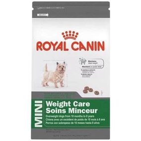3 Bultos Weight Control Raza Mini Royal Canin 1.3 Kg.