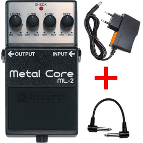 Pedal Boss Ml2 Metal Core Distorção + Fonte Hayonik Kadu Som
