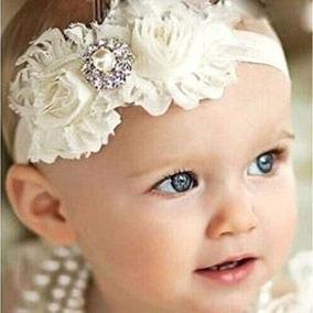 Bandita Diadema Moño 2 Flores Shabby Chic Cristal Blanca