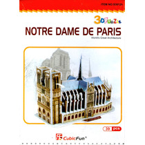 Rompecabezas 3d Notre Dame De Paris Francia 39 Pzas
