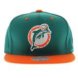 Miami Dolphins Mitchell & Ness Tone Visera Gris Snapback Nfl