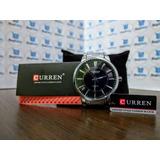 Relógio Importado Masculino Curren Original Pulseira De Aço