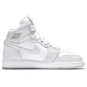 Tênis Nike Air Jordan 1 Heiress Gs Pure Platinum,imediato.