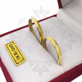 Alianzas Oro 18k 3 Grs El Par Anillos Casamiento Compromiso