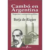 Libro Cambo En Argentina De Borja De Riquer