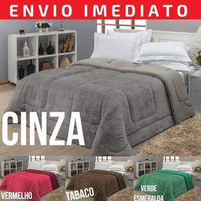 b3a109e912 Cobertor Malha Casal Edredom - Roupa de Cama no Mercado Livre Brasil