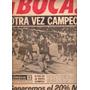 Diario Cronica ** Boca Campeon 1976 ** Final Contra River