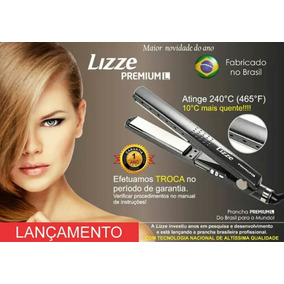 Prancha Lizze Premium Nano Titanium 11/4cinza 465ºf+ Forte