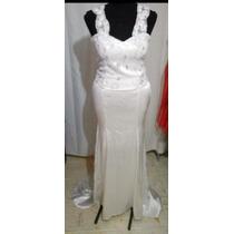 Vestido De Noiva Novo Com Cauda Fixa