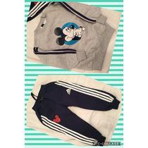 Conjunto Adidas Mickey Varón 3 A 8 Años