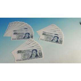 3 Lotes De Billetes De $ 5 Ley 18188 Correlativos Sin Circ.