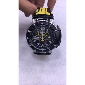 Relógio Tissot 1853 T-race Preto E Amarelo