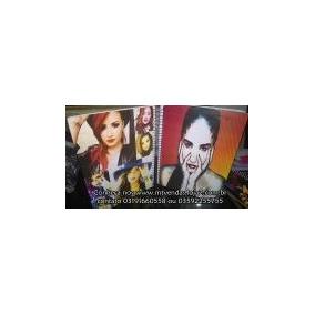 Caderno 10 Materia Com Adesivos Demi Lovato 476353