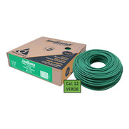 Caja 100 Mts Cable Verde Thw Cal 12 Awg Indiana 100%cobre