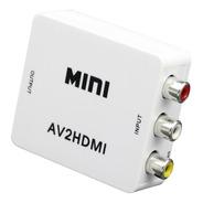 Mini Adaptador Convertidor Señal Rca Audio Y Video A Hdmi
