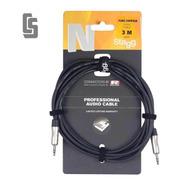 Cable Profesional Stagg Nac3mpsr -mini Plug Stereo- 3 Mts
