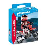 Playmobil 9357 Motocross Moto Original Educando