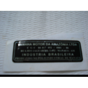 Etiqueta Quadro Yamaha Motor Brasil Rd135 Rd350 Dt180 Dt200