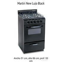 Cocina 4 Hornallas C/horno Martiri New Lujo G/nat C/negro