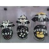 Potes De Biscuit 3 Pecas Cafe,acucar,biscoitos