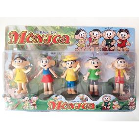 Kit Miniaturas 5 Bonecos Turma Da Mônica Luz Led Desenho