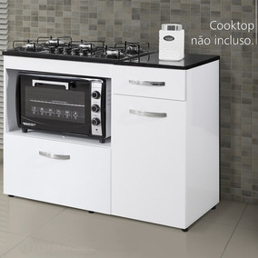 Balcão Cooktop Violeta Basculante Branco - Kaiki Móveis