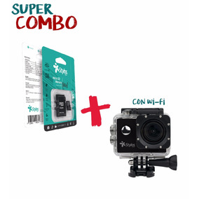 Combo Action Cam Wi-fi 12mpx + Micro Tft 8gb Clase 4 + Envío