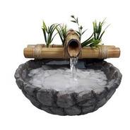 Fonte/agua/cascata/bambu Mini Base Resina Imitando Pedra 01