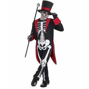 Disfraz Niño Mr. Huesos Esqueleto Traje Catrin Halloween