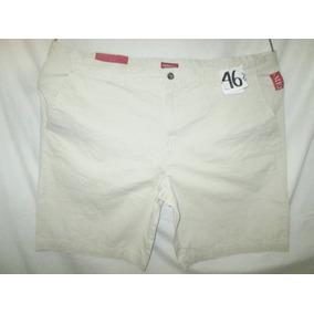 Short Bermuda Color Crema Talla Plus 46 Merona