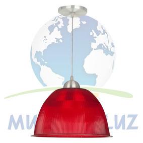 Kit 2 Luminárias Prismática Com Pendente De 12 Polegadas.