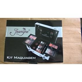 Maleta De Maquiagem Jasmyne E Macrilan 58 Itens Efeito 3 D
