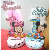 Adorno Para Torta Minie Mickey Primer Añito