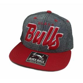 Boné Infantil Black Bulls Aba Reta Bordado Snapback D-25