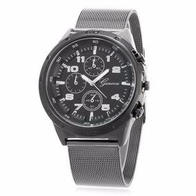 Reloj Geneva Casual Moderno Cuarzo Correa Acero Inoxidable