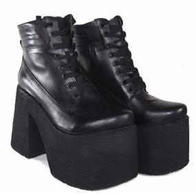 Borcego Con Plataforma Acordonado Moda Karen 3 Shoes Bayres